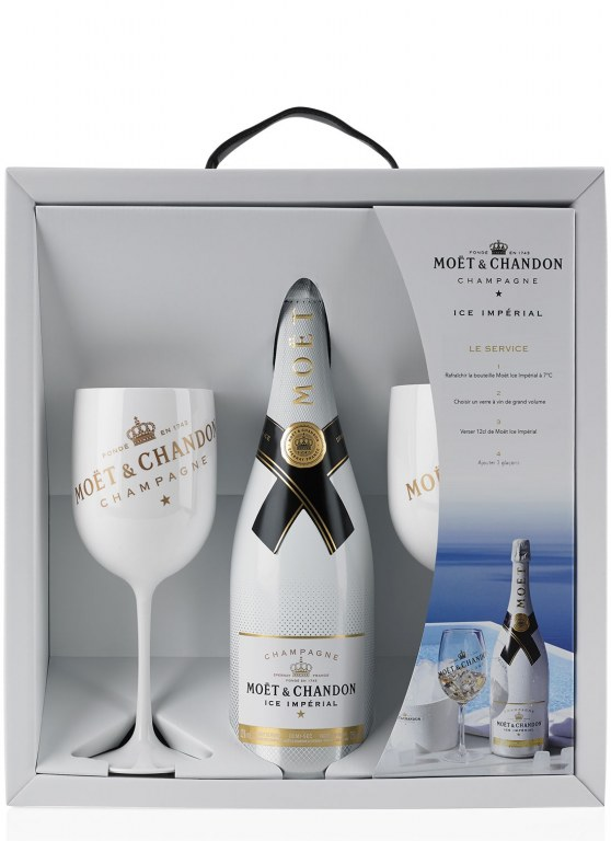 champagne mo t chandon ice imp rial 75cl box 2 glasses. Black Bedroom Furniture Sets. Home Design Ideas