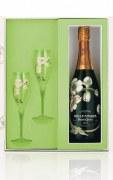 Champagne Perrier Jouet Casket Belle Epoque 2007 75cl + 2 Flutes