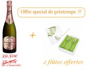 6 Bottles Perrier Jouet Blason Rosé + Box of 2 flutes for free