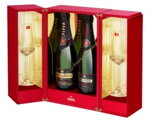 Champagne Piper Heidsieck 1996-2006 Pack Baccarat 2 flutes